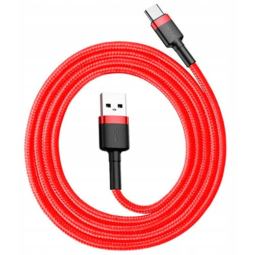 Baseus cafule Cable USB For Type-C 3A 1M Red+Red
