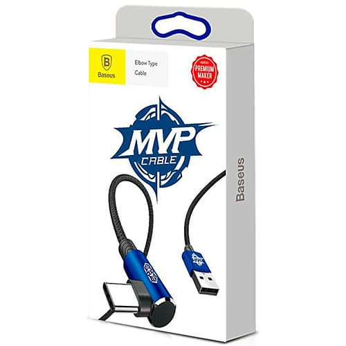 Baseus MVP Elbow Type Cable USB For Type-C 2A 1M Blue