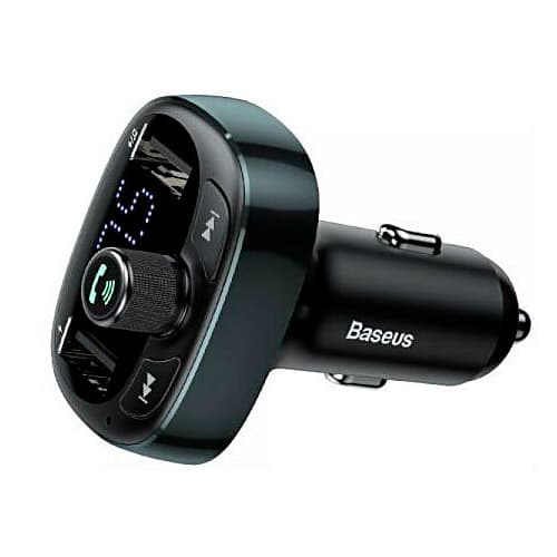 Baseus T typed Bluetooth MP3 charger with car holder (Standard edition) Black