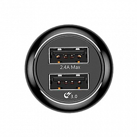 Baseus Gentry series Dual-U Quick-charge Car Charger Black